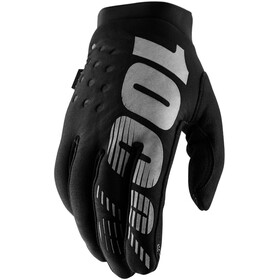 100% Brisker Cold Weather Guantes, black/grey